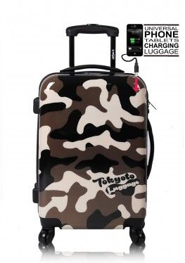 CAMOUFLAGE Luggage Trolley Front Powerbank