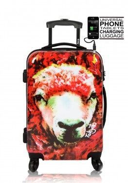 Luggage Trolley RED SHEEP Front Powerbank